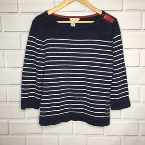 Nomadic Traders Striped Blue, Red & White Sweater